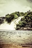picture of canaima  - Waterfall and the lagoon of Canaima national park  - JPG