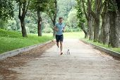 Young man running with your dog