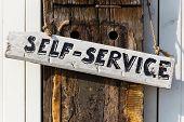 Sinal de Self-Service