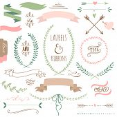 stock photo of embellish  - Wedding graphic set - JPG