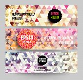 Banners set for business modern design, eps10 vector illustration. Geometric background.