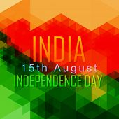 foto of indian independence day  - abstract style vector indian independence day design - JPG