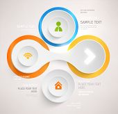 stock photo of circle shaped  - Modern business template style - JPG