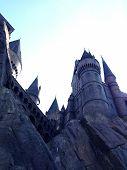 Постер, плакат: Гарри Поттер земли замок