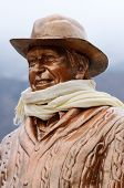 Statue of Sir Edmund Hillary in Khumjung village,Everest region,Nepal