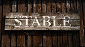 image of stable horse  - Rustic Sign For A Stable On A Ranch In Western USA - JPG