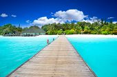 Beautiful tropical island landscape
