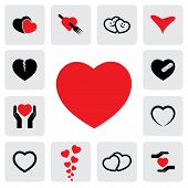 Abstract Heart Icons(signs) For Healing, Love, Happiness- Vector Graphic