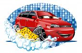 stock photo of bubble bath  - Car Washing - JPG
