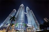 Nightscape of Petronas Twin Towers
