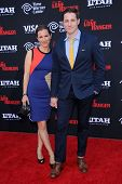 LOS ANGELES - JUN 22:  Sam Jaeger & wife Amber arrives to the 'The Lone Ranger' Hollywood Premiere