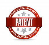 Patent Seal Stamp Illustration Design