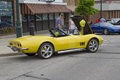 Yellow 1968 Chevy Corvette Roadster Side View