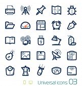 Universal icons set Perfect lines 03