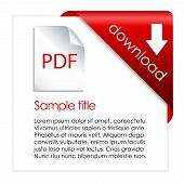 stock photo of descriptive  - Pdf download card isolated on white background - JPG