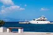 Cruise Ship At Naxos Port, Greece