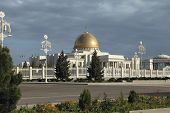 stock photo of turkmenistan  - General Views to the president palace - JPG