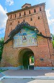 Architecture Of The Kolomna Kremlin, Spasskie Vorota, 1525 Year, City Of Kolomna, Russia.