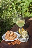 Limoncello and biscotti