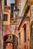 Medieval alley in Italy.