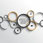 eps10 vector rings infographics elements background