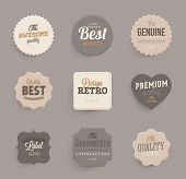 Set of vector retro ribbons, banners and vintage emblems. Elements vector collection for vintage des
