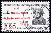 Postage Stamp France 1989 The Ordinance Of Villers-cotterets