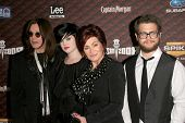 Ozzy Osbourne and Kelly Osbourne with Sharon Osbourne and Jack Osbourne  at Spike Tv's 'Scream 2008'