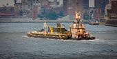 Tugboat On East River, New York.