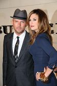 Matt Goss and Daisy Fuentes  at the Burberry Beverly Hills Store Re-Opening. Burberry Beverly Hills