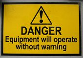 Danger Equipment Sign