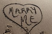 Marry Me In Sand Beach