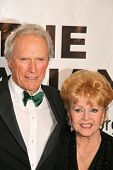 Clint Eastwood and Debbie Reynolds  at the Thalians 53rd Anniversary Ball, honoring Clint Eastwood,