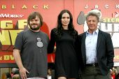Jack Black with Angelina Jolie and Dustin Hoffman  at the DVD and Blu-Ray Debut of 'Kung Fu Panda'.