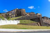 stock photo of el morro castle  - San Juan Fort San Felipe del Morro Puerto Rico - JPG