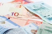 stock photo of ringgit  - Malaysia Ringgit Note for background or texture - JPG