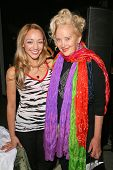 Sarah Scott and Sally Kirkland at an AMA Gifting Suite by ShoeDazzle.com, Gibson Guitars, Beverly Hills, CA 11-21-08