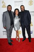 Brian Holland with Felisa Mirasol and Eddie Holland   at The Grammy Nominations Concert Live!! Nokia Theatre, Los Angeles, CA. 12-03-08