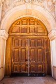 Large wooden doors