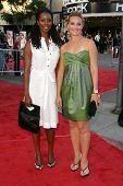 Tasha Smith and Elisabeth Rohm  at the Los Angeles Premiere of