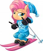 image of olympic-games  - beautiful horse of a pony who goes on skis at the Olympic Games - JPG