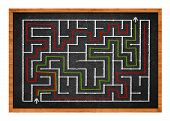 Labyrinth On Chalkboard