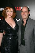 Christina Hendricks and Matthew Weiner  at the Wrap Party for Season 2 of 'Mad Men'. Cicada, Los Angeles, CA. 08-23-08