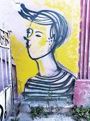 Varna - January 5 : Street Art By Unidentified Artist. Varna Graffiti Management Plan Recognizes The