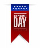 Independence Day Banner Sign Illustration