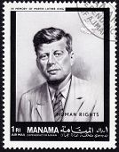 Postage Stamp Showing John F. Kennedy