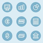 Finance web icon set 1,  blue buttons