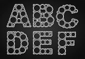Font design made of circles in the letters