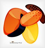 Large glossy round shapes abstract background