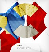 Abstract geometric shapes background - semicircle round glossy pieces in modern business composition